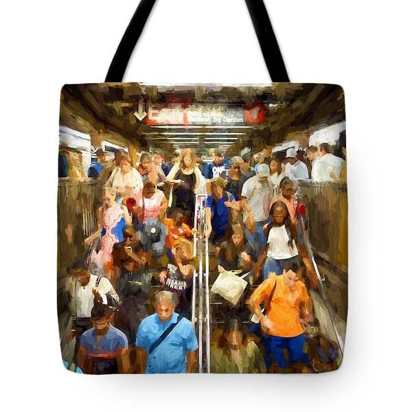 Nyc Subway Tote Bag by Matthew Ashton