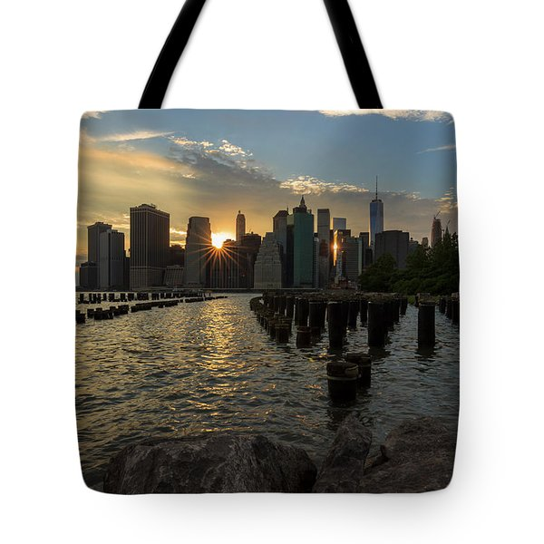 Tote Bag featuring the photograph Nyc Sunset by Anthony Fields