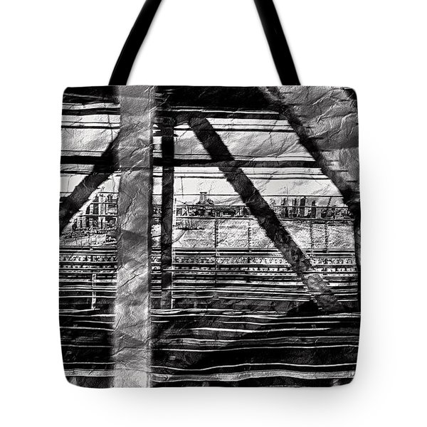 Nyc Train Bridge Tracts Tote Bag