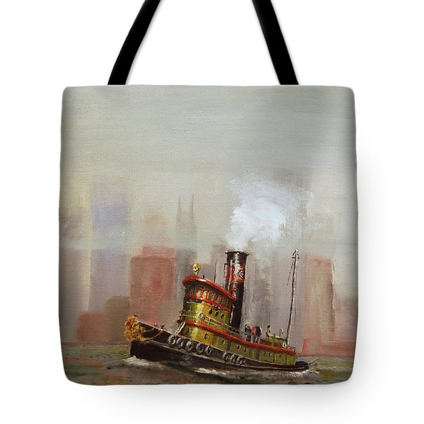 Nyc Tug Tote Bag by Christopher Jenkins