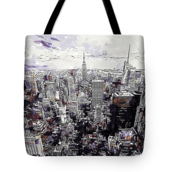 Nyc View From Rockefeller Center Tote Bag