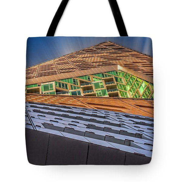 Tote Bag featuring the photograph Nyc West 57 St Pyramid by Susan Candelario