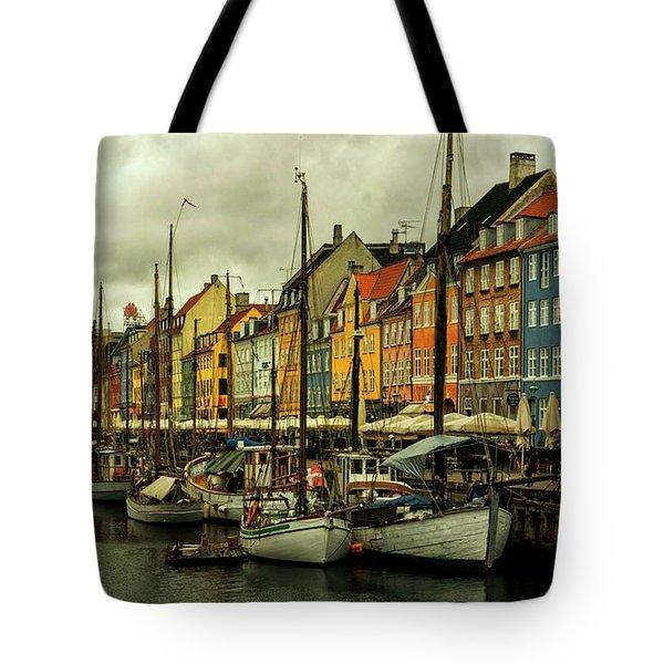 Nyhavn In Copenhagen Tote Bag