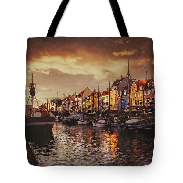 Nyhavn Sunset Copenhagen Tote Bag