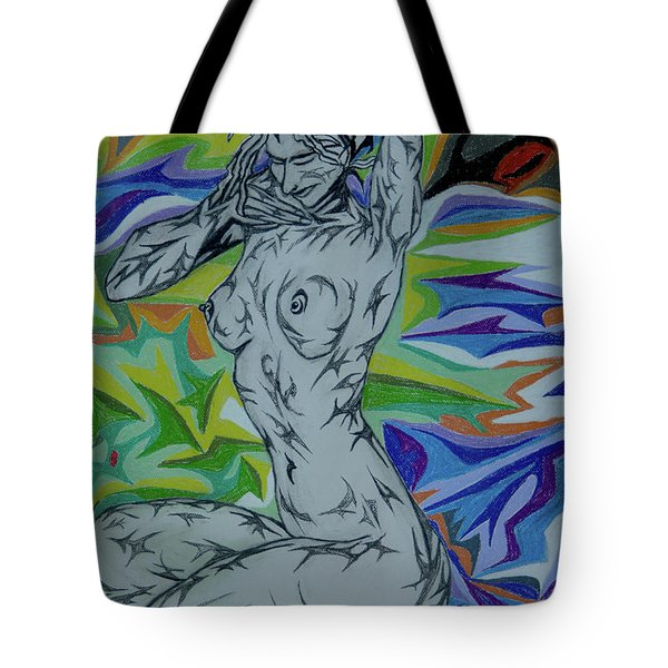 Nymph In Paradise Tote Bag by Robert SORENSEN