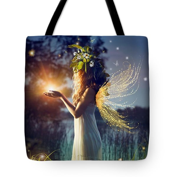 Nymph Of August Tote Bag by Lilia D