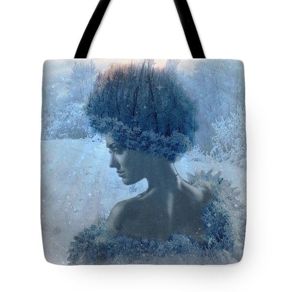 Nymph Of January Tote Bag by Lilia D