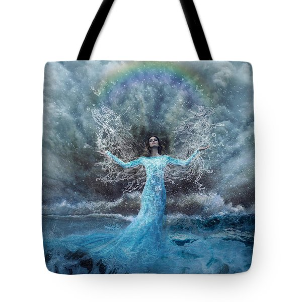 Nymph Of  The Water Tote Bag by Lilia D