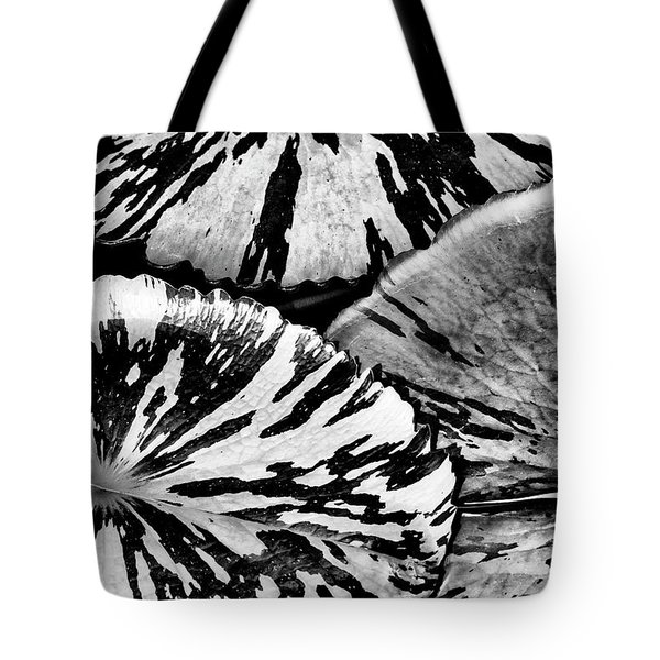 Nymphaea Foxfire Lily Pads Tote Bag