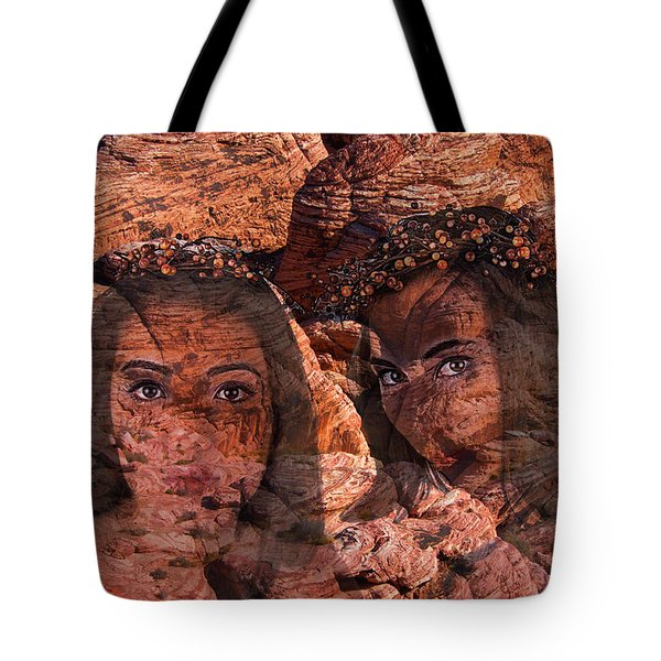 Nymphs Of The Red Rocks Tote Bag