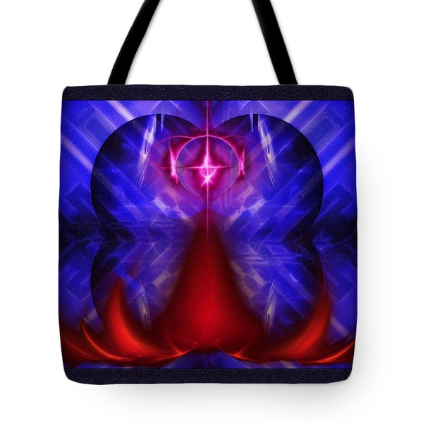 Tote Bag featuring the digital art Nystical Life by Mario Carini
