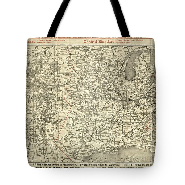 O And M Map Tote Bag