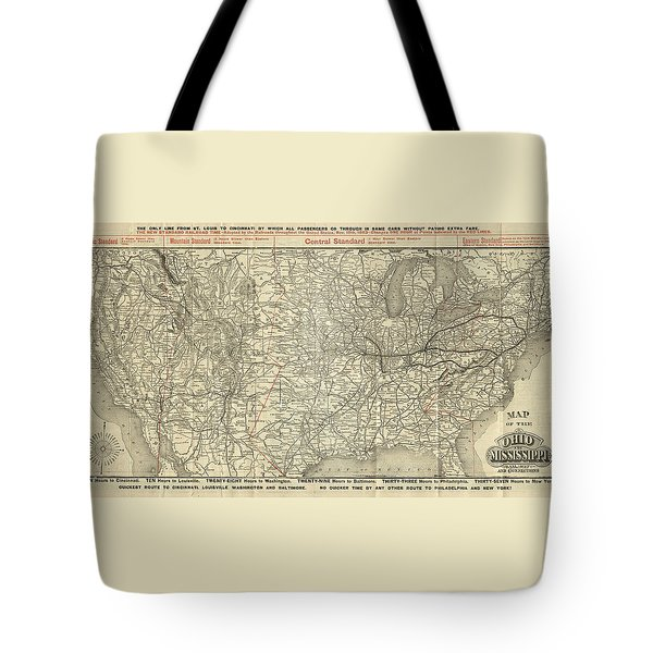 O And M Map Tote Bag
