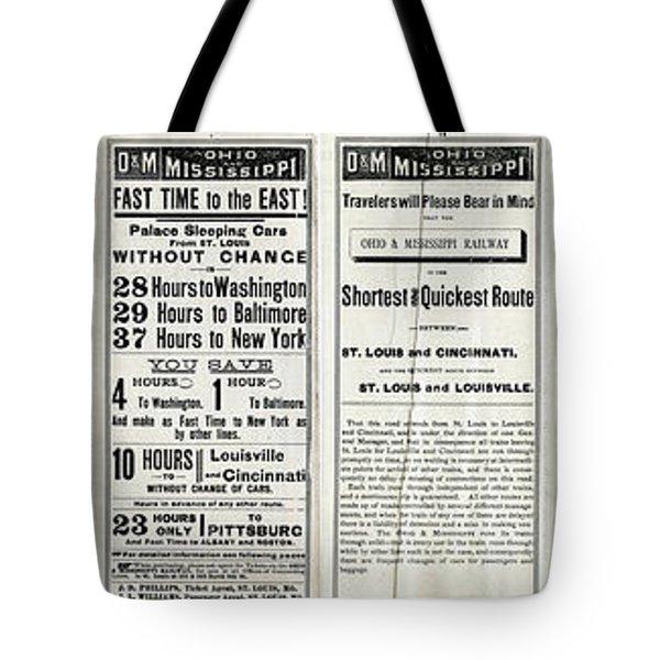 O And M Timetable Tote Bag