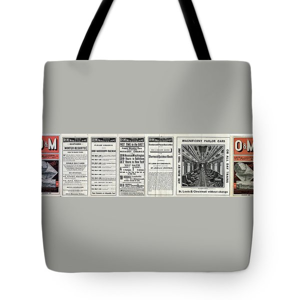 O And M Timetable Tote Bag