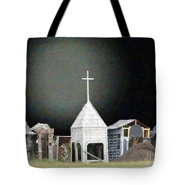 Tote Bag featuring the digital art O Little Town by Lyric Lucas