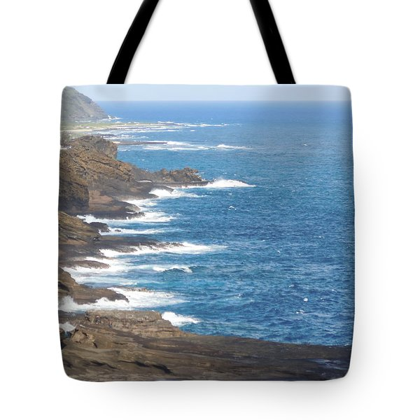 Oahu Coastline Tote Bag