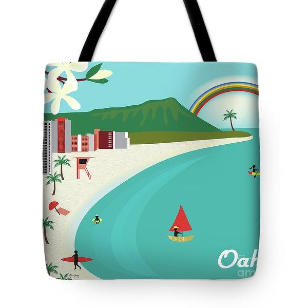 Oahu Hawaii Horizontal Scene Tote Bag