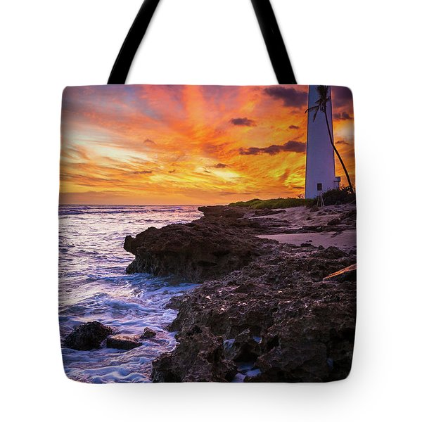 Oahu Lighthouse Tote Bag by Inge Johnsson