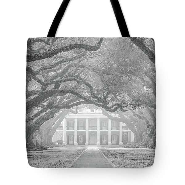 Oak Alley Fog Tote Bag