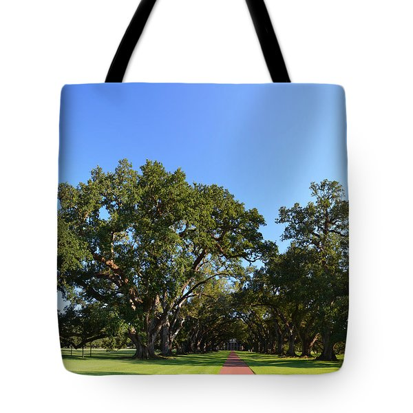 Oak Alley Plantation Panoramic Tote Bag