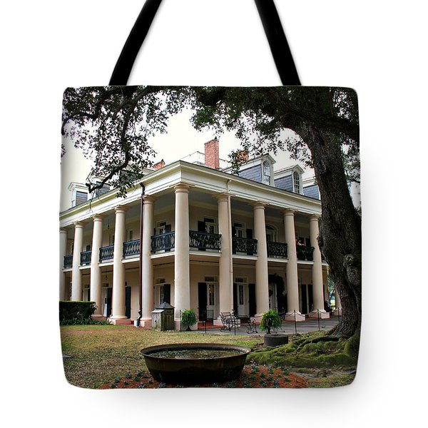 Oak Alley Plantation Tote Bag by Perry Webster