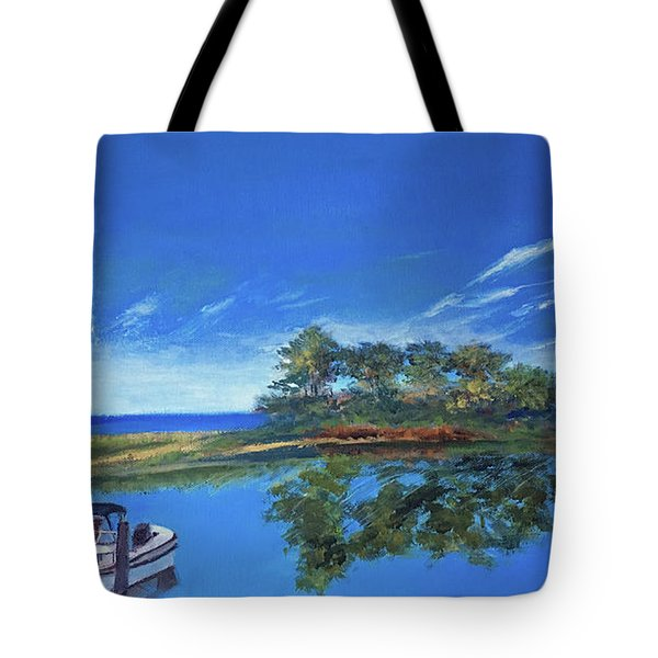 Oak Bluffs With Grady White Tote Bag