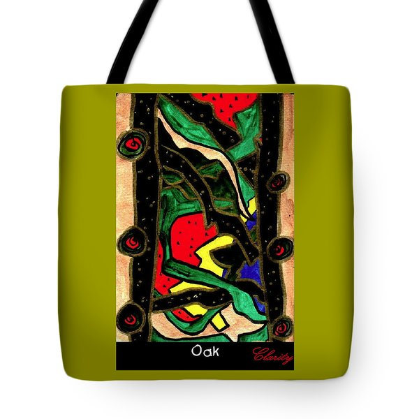 Tote Bag featuring the painting Oak by Clarity Artists