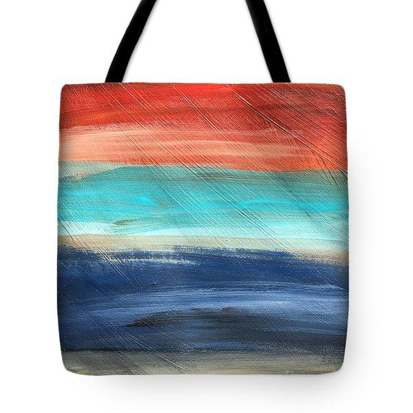 Oak Creek #27 Southwest Landscape Original Fine Art Acrylic On Canvas Tote Bag