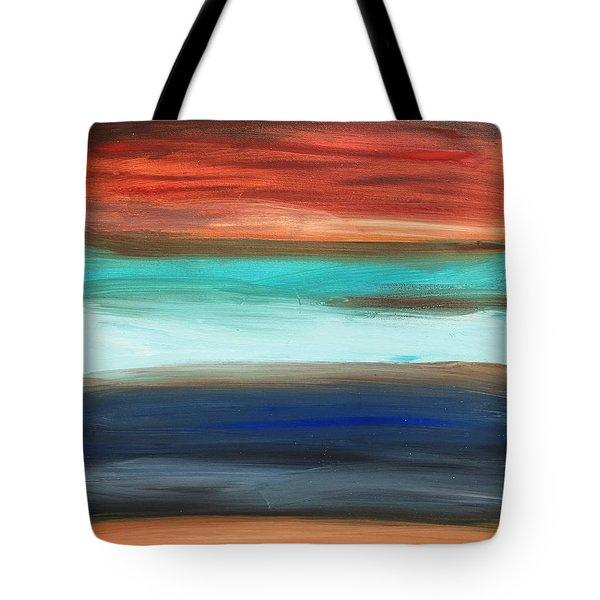 Oak Creek #28 Southwest Landscape Original Fine Art Acrylic On Canvas Tote Bag