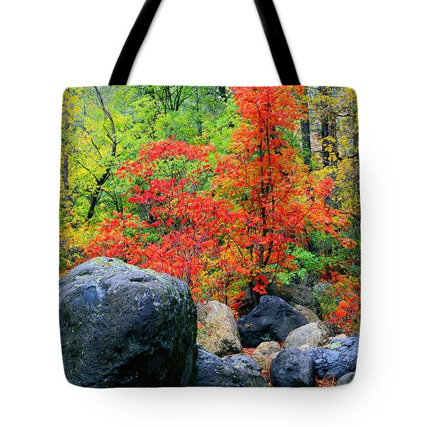 Oak Creek Canyon Red Tote Bag