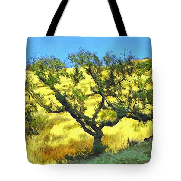 Tote Bag featuring the painting Oak From Agoura Hills by Viktor Savchenko