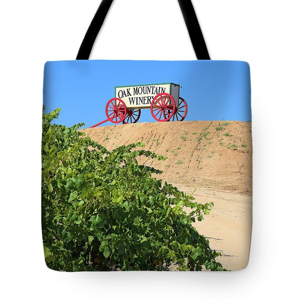 Tote Bag featuring the photograph Oak Mountain Winery by Viktor Savchenko