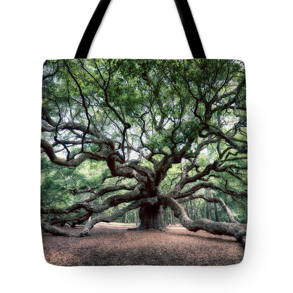 Oak Of The Angels Tote Bag by Renee Sullivan