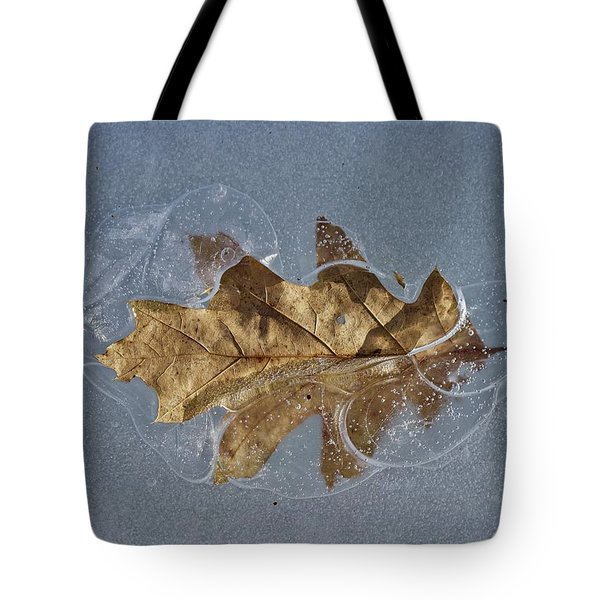 Oak On Ice Tote Bag