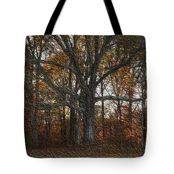 Embracing Autumn Tote Bag by Wanda Brandon