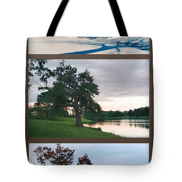 Tote Bag featuring the photograph Oak Tree Through Seasons by Peg Toliver