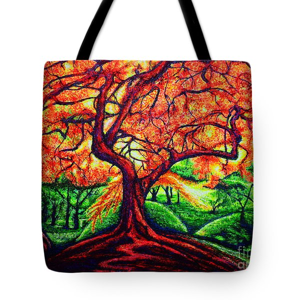 Tote Bag featuring the painting OAK by Viktor Lazarev