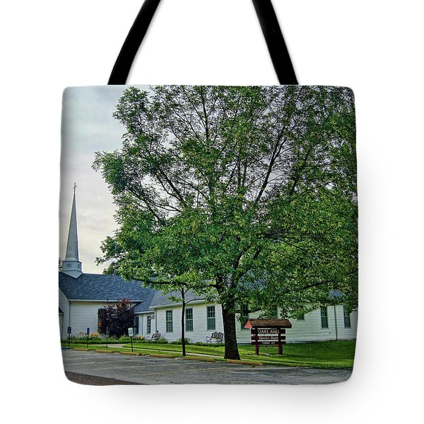 Tote Bag featuring the photograph Oakland Christian Church by Cricket Hackmann