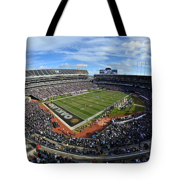Oakland Raiders O.co Coliseum Tote Bag