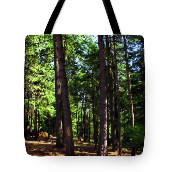 Oakrun Forest Tote Bag by Joyce Dickens