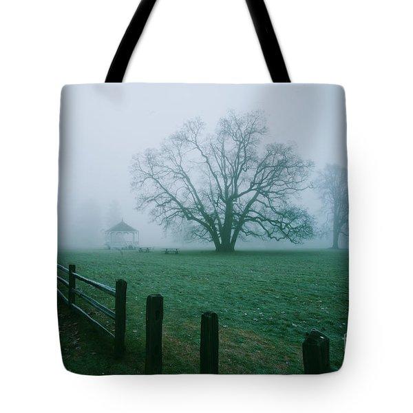 Oaks In A Misty Fog Tote Bag