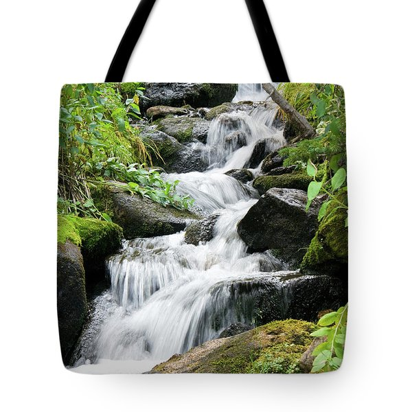 Tote Bag featuring the photograph Oasis Cascade by David Chandler