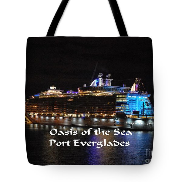 Oasis Of The Seas Tote Bag by Gary Wonning