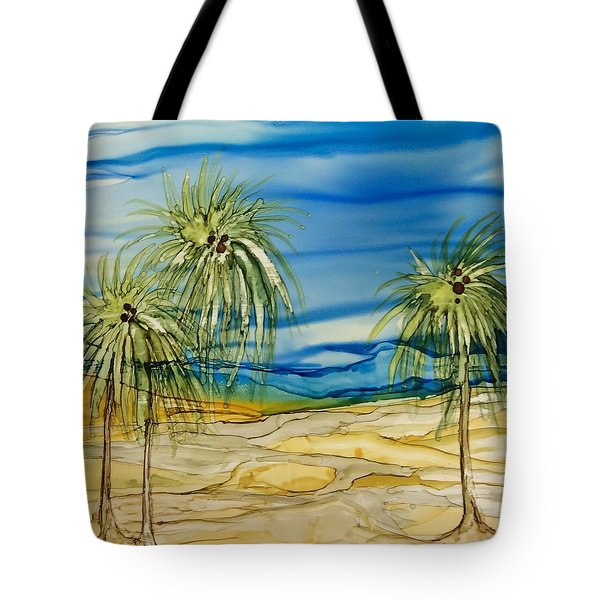 Tote Bag featuring the painting Oasis by Pat Purdy