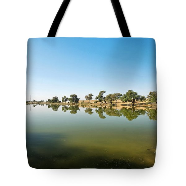Tote Bag featuring the photograph Oasis by Yew Kwang