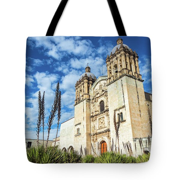 Oaxaca Church And Beautiful Sky Tote Bag
