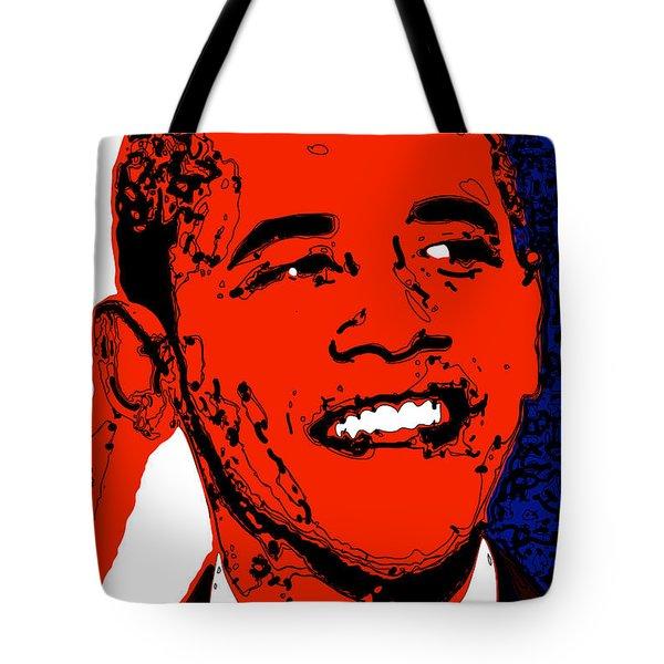Tote Bag featuring the digital art Obama Hope by Rabi Khan