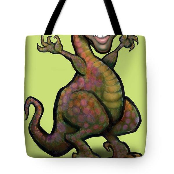 Obama Saurus Rex Tote Bag by Kevin Middleton