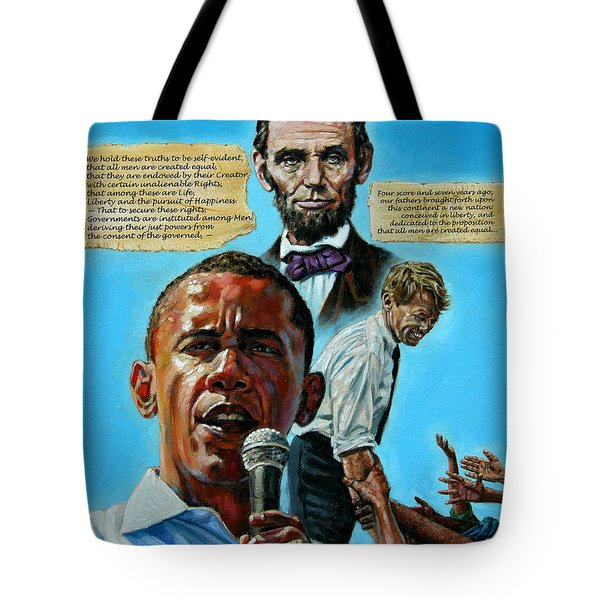 Obamas Heritage Tote Bag by John Lautermilch
